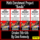 5TH & 6TH GRADE MATH ENRICHMENT PROJECTS! 4 WEEK BUNDLE!