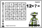 Differentiated Multiplication Bingo Game