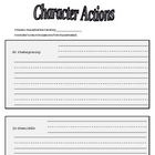 Differentiated Reading Comprehension - characters