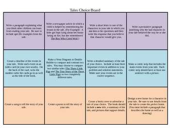 Differentiated Tales  (Fairytales, Tall Tales and Folk Tal
