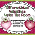Differentiated Valentines Write The Room Word Work-Aligned
