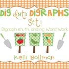 Dig into Digraphs Set 1 {digraphs sh,th, ng} Word Work