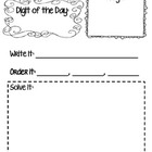 Digit of the Day-Math Journal