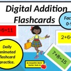 Digital Addition Flash Cards (facts 1-9)