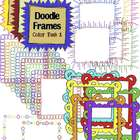 Digital Clip Art Doodle Frames {Color Pack}