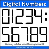 Digital Numbers Clip Art/Graphics