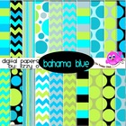 Digital Papers - Bahama Blue