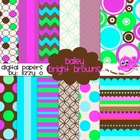 Digital Papers - Bailey Bright Brown