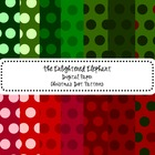 Digital Papers Christmas Colors Polka Dot Patterns