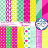 Digital Paper Pack in Bright Colors such as Pink Yellow and Green
