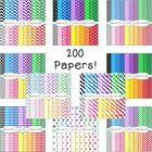 Digital Papers Mega Bundle - 200 Colorful Backgrounds