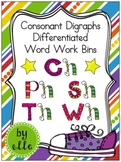 Digraph Differentiated Word Work Bins {Ch, Ph, Sh, Th, Wh}