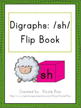 Digraphs: /sh/ Word Work Flip Book