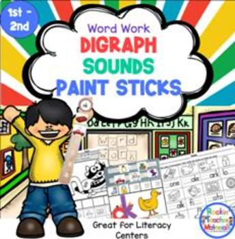 Digraphs with Paint Sticks-Word Work Station