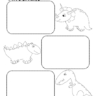 Dinosaur Facts Graphic Organizer