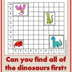 Dinosaur Hunt - Coordinate Review Game