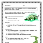 Dinosaur Informational Report Writing Sheets, 12 Pages Total!!