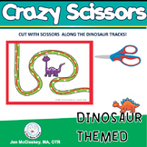 Fine Motor Dinosaur Scissors Skills Labs for Center Time!