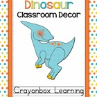 Dinosaur Theme Classroom Decor - with editable files