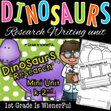 """Dinosaurs """"Research"""" Writing Mini Unit for k-2"""