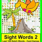 "Dinosaurs ""Volcano!""  Sight Words Activities Literacy Cent"
