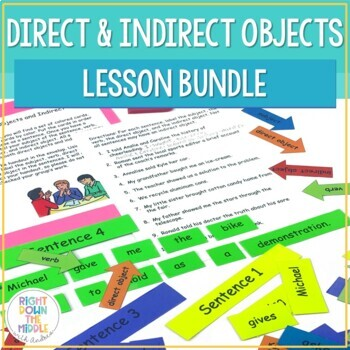 Direct Objects and Indirect Objects PowerPoint, Handouts,