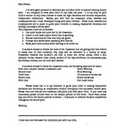 Discipline Plan letter to parent