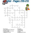 Discovering French Rouge 6 French Crossword Puzzle Hotel