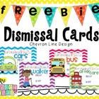 Dismissal Cards for Student Chevron Design