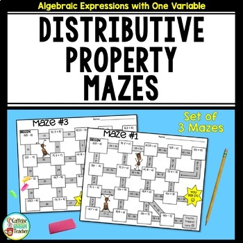 Distributive Property Mazes with and without Variables