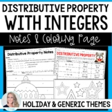 Distributive Property Notes and Coloring Worksheet