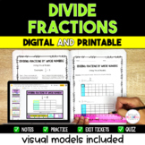 Dividing Fractions Packet - 5.NF.7 Visual Models included