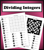 Dividing Integers Color Worksheet