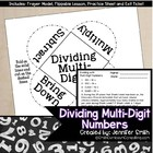 Dividing with Whole Numbers Flippables for Interactive Notebooks