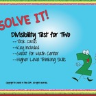 Divisibility Rules Math Task Cards Set One Using the Rule for Two