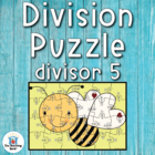 Division Puzzle Covers Divisor 5 ~ Common Core Aligned!