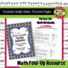 Division Strategies:  Partial Quotient Strategy Fold-Up &