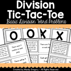 Division Tic- Tac- Toe Math Game
