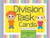 Divsion Task Cards - Number of Groups Unknown