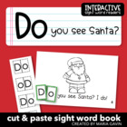 "Interactive Sight Word Reader ""Do You See Santa?"""