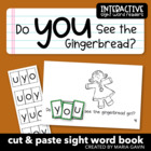 "Interactive Sight Word Reader ""Do You See the Gingerbread?"""
