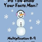 Do You Snow Your Facts Man?*Multiplication Facts*Math Cent