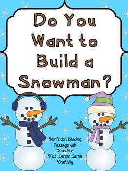 Nonfiction Reading & Roll a Snowman Game