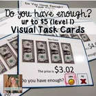 Do you have enough money? Money Math Task Cards for specia