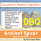 Document Based Question (DBQ) Ancient Egypt-Common Core St