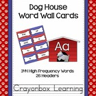 Dog House Word Wall Cards and Headers {with editable templ