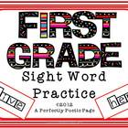 Dolch First Grade Four Squares Activity