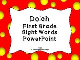Dolch First Grade Sight Word PowerPoint~Bold Design