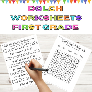 Dolch First grade 9 Weeks of Sight Word Work