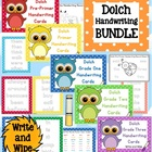 Dolch Handwriting Center Cards Bundle - {all five lists} P